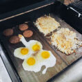 Two griddles on a weber gas grill. Photo credit: Instagram  @J_luna14