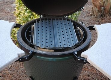GrillGrates on the Medium Green Egg