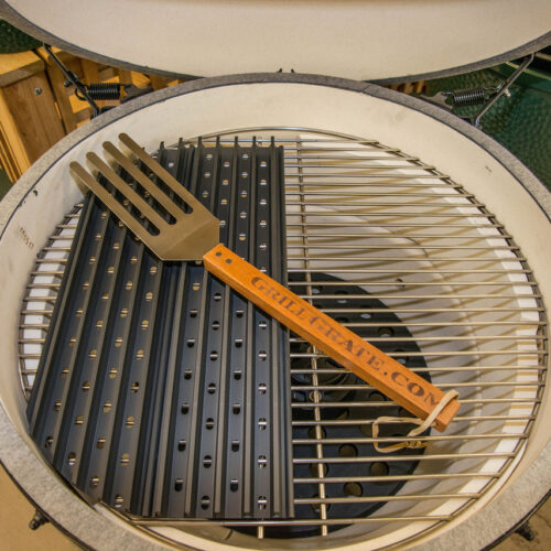Half Set of GrillGrates on the XL Green Egg