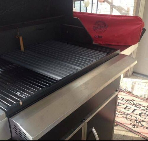 "18.5"" Sear Station on a Traeger pellet grill"