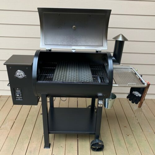 """18.5"""" Sear Station on a Pit Boss pellet grill"""