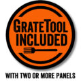 GrateTool included with a two or more panel set