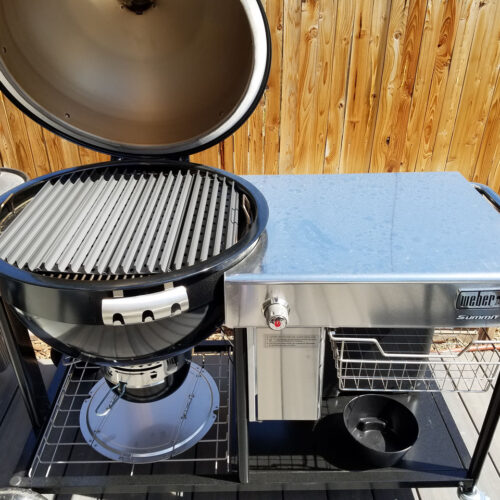 """26"""" kettle set on Weber's new Summit Charcoal grill"""