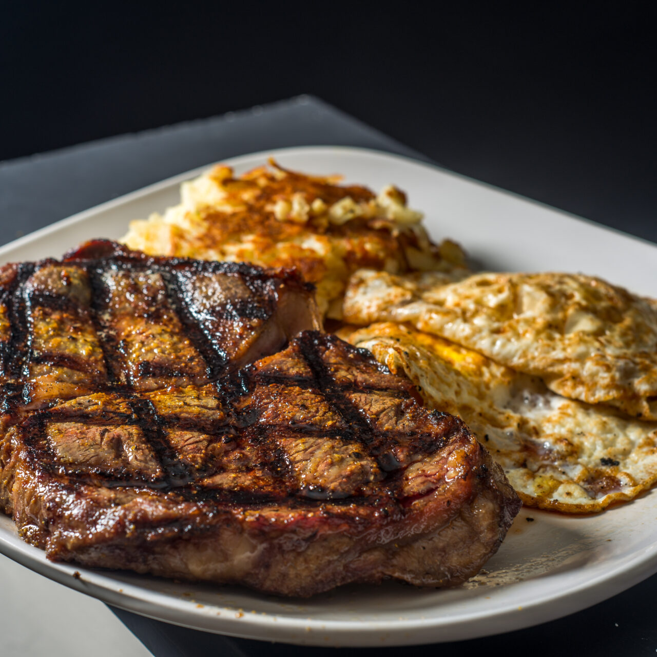 Grate Steak and Eggs