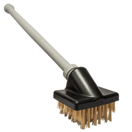 "Commercial Grade Grill Brush (shown here with the 24"" plastic handle)."