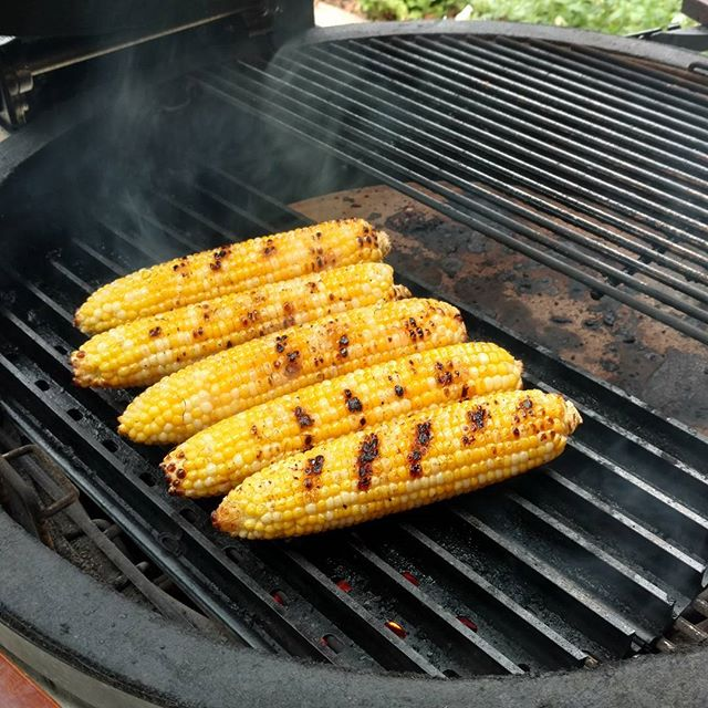 Grate Grilled Naked Corn