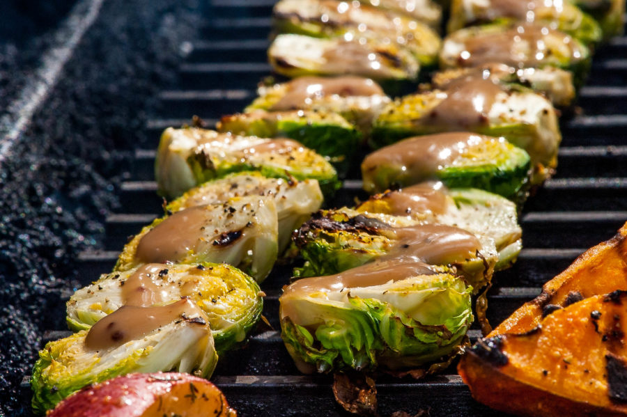 Grilled Brussels Sprouts with Balsamic Vinegar