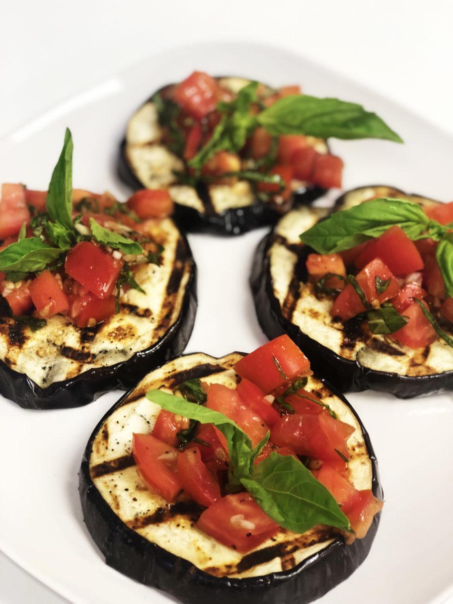 Grilled Eggplant Bruschetta