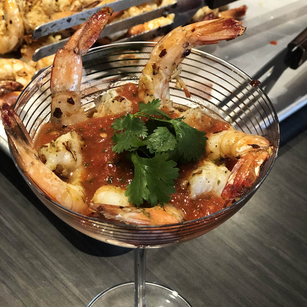Grilled Shrimp Cocktail with Mexicali Sauce
