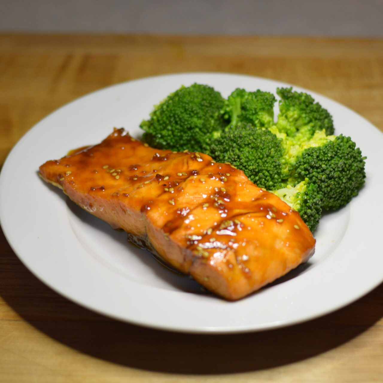 Salmon with Asian glaze