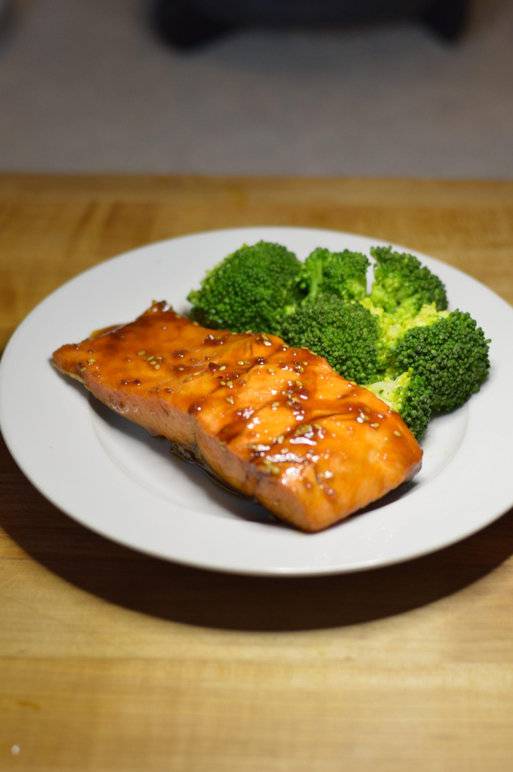 Salmon with Asian glaze