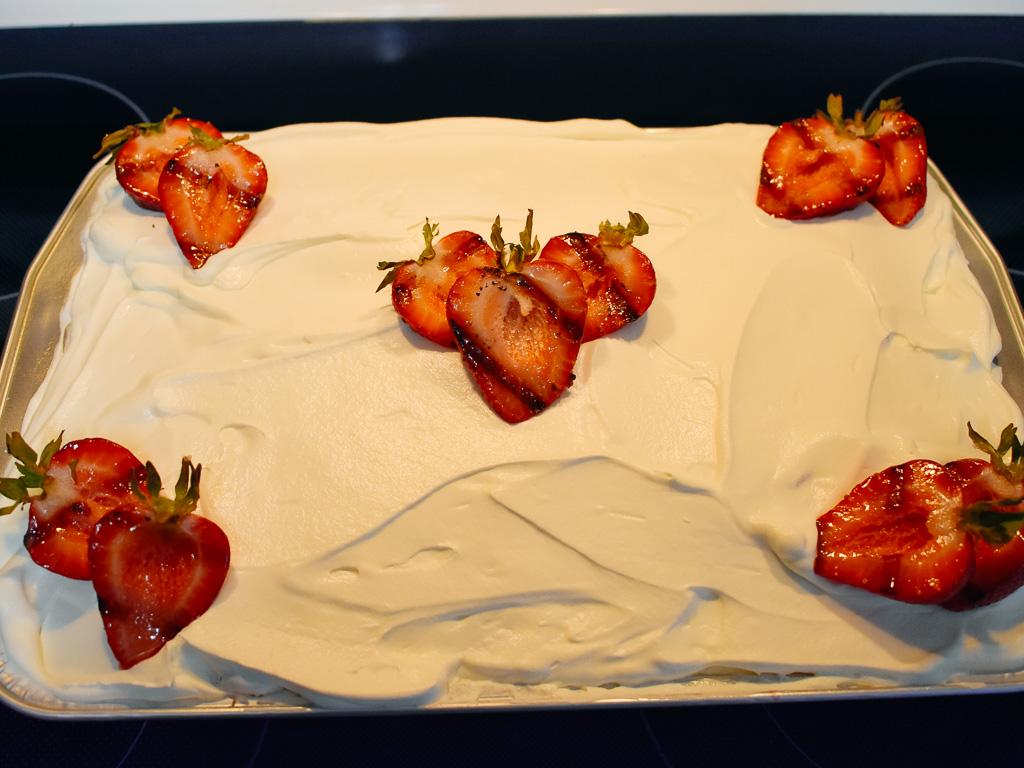 Southern Smoked Strawberry Cake
