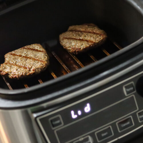 PowerXL Grill Air Fryer Combo pictured with Sear'NSizzle Grate