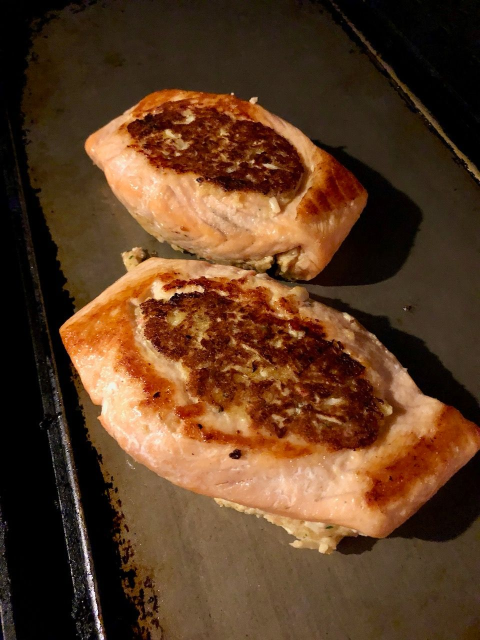 Crabmeat Stuffed Salmon on the Grate Griddle