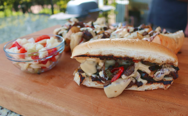 Malcom Reed's Cheesesteak Sandwich