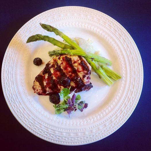 Low Carb Blueberry Balsamic Chicken