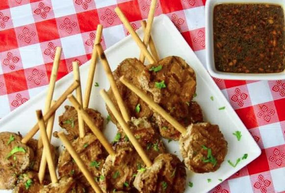 Grilled Pork Tenderloin Lollipops
